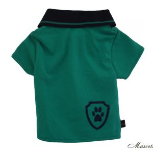 Polera polo verde perro